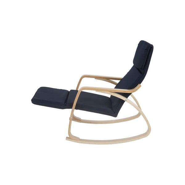 Fotel bujany Vaasa, ciemnoniebieski