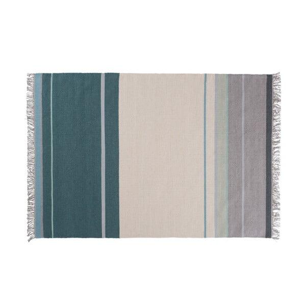Wełniany dywan Metallum Aqua, 140x200 cm