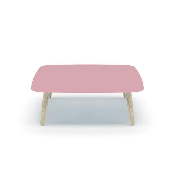 Różowy stolik MEME Design Nord Quadro