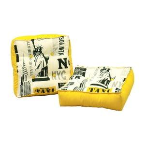 Zestaw 2 poduszek do siedzeniaz żółtymi szczegółami 13Casa New York