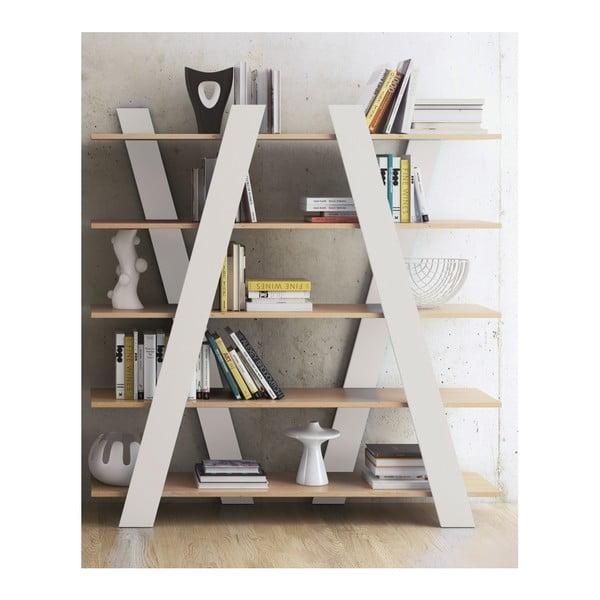 Biała biblioteczka TemaHome Wind Oak