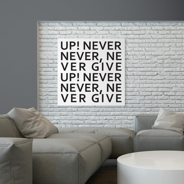 Magnetyczna tablica dESIGNoBJECT.it Never Give Up, 50 x 50 cm