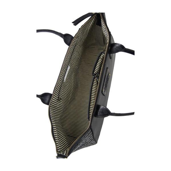 Skórzana torebka Fly Violet midi, krokodyl