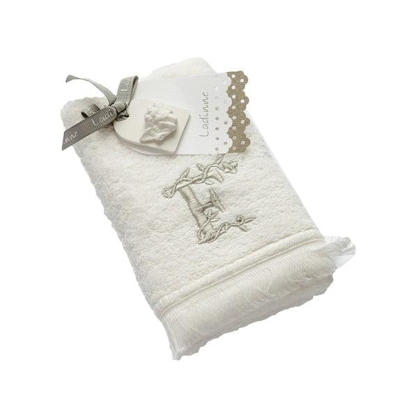 Ręcznik z inicjałem F, 30x50 cm