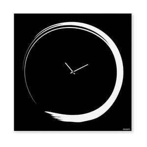 Zegar ścienny dESIGNoBJECT.it Enso Clock Black, 50 x 50 cm