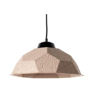 Brązowoszara lampa wisząca z papierowym kloszem z recyklingu Design Twist Mosen