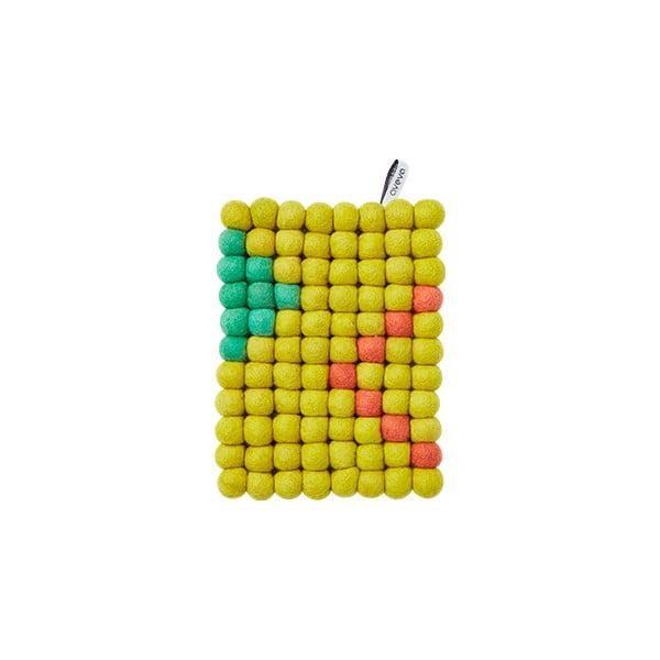 Wełniana podkładka Trivet Lemon, 22x17 cm