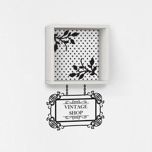 Półka z naklejką Vintage White