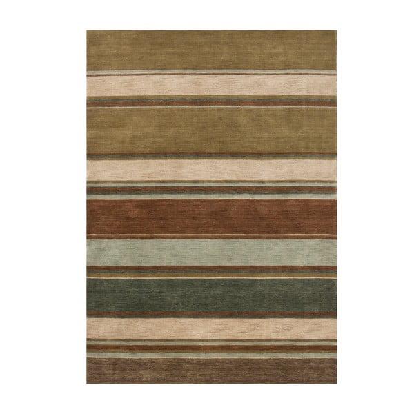 Wełniany dywan Country Green, 170x240 cm