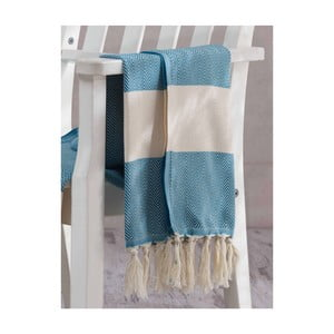 Ręcznik hammam Baliksirti Petrol, 100x180 cm