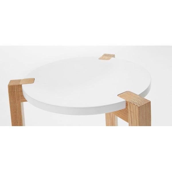 Biały stolik La Forma Elroy