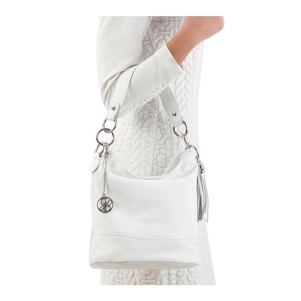 Skórzana torebka Luigi, biała