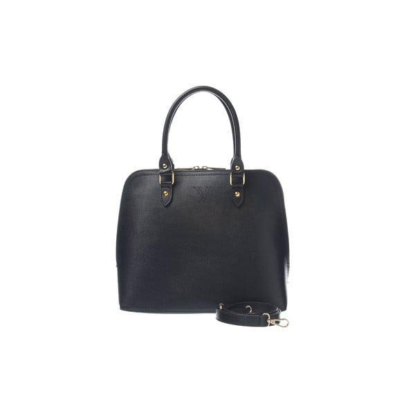 Skórzana torebka Fan Bag Black