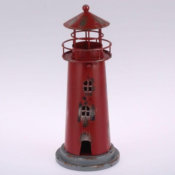 Metalowy lampion wiszący Red Lighthouse, 22 cm