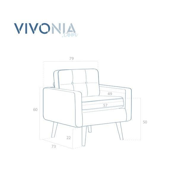 Beżowy fotel VIVONITA Ina