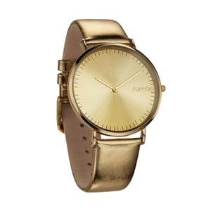 Zegarek w złotym kolorze ze skórzanym paskiem Rumbatime Orchard Smoke