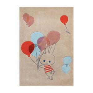Dywan ręcznie tuftowany Art For Kids Balloon Rabbit, 110x160 cm
