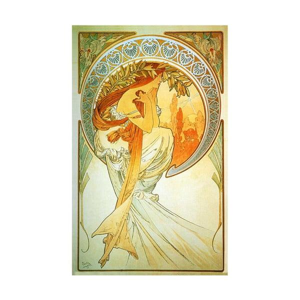 "Obraz ""Poetry"" (Alfons Mucha), 30x50 cm"