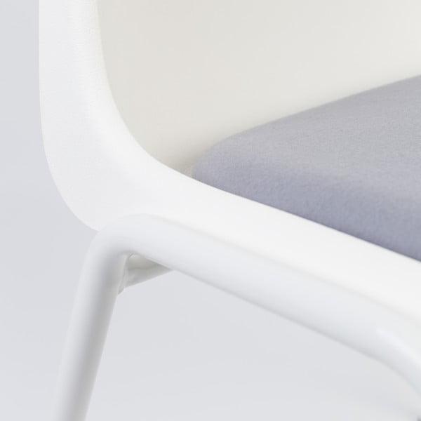 Krzesło Back to Gym, biało-szare