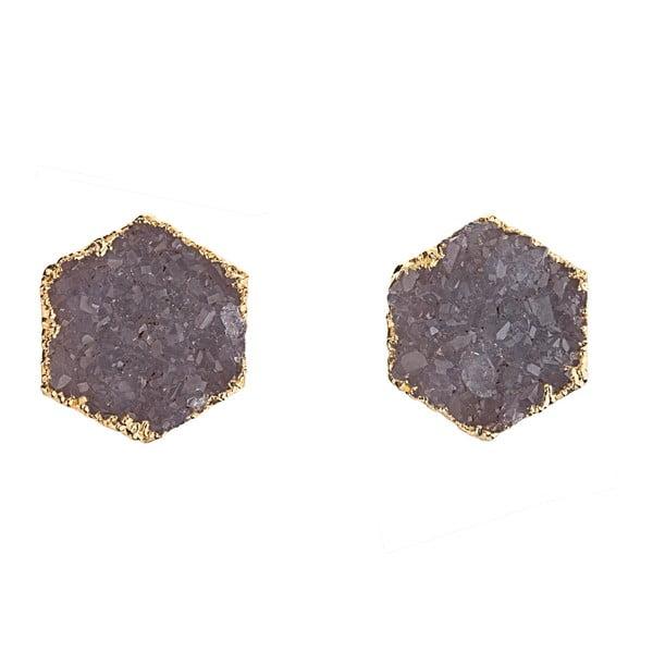 Kolczyki z fioletowego ametystu Decadorn