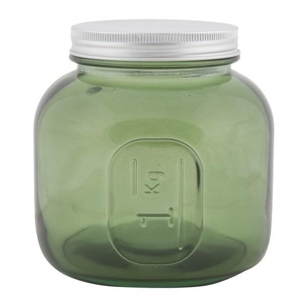Zielony pojemnik dekoracyjny ze szkła z recyklingu Mauro Ferretti Coperchio, ⌀ 13 cm