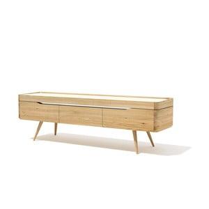 Szafka pod TV z litego drewna dębowego Javorina Terra