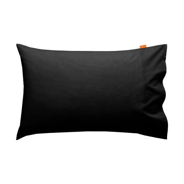 Zestaw 2 czarnych poszewek na poduszki HF Living Basic, 50x80 cm