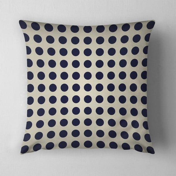 Poduszka Small Black Dots, 43x43 cm, krémový