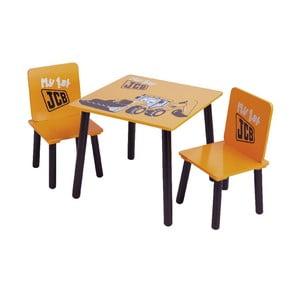 Dziecięcy stół i 2 krzesła JCB