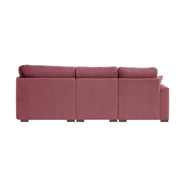 Sofa narożna Jalouse Maison Irina, prawy róg, różowa