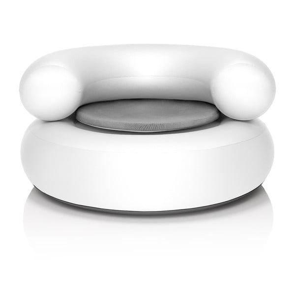 Fotel dmuchany CH-AIR, biały z jasnoszarą poduszką