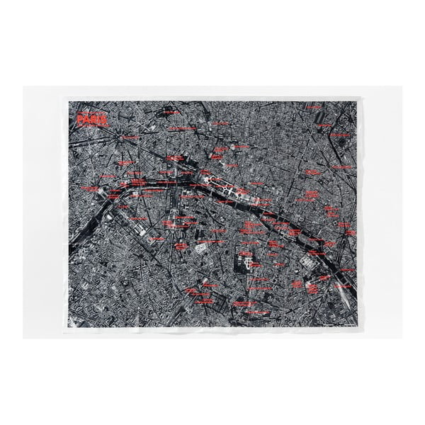 Czarna mapa zgnieciona Palomar Paryż