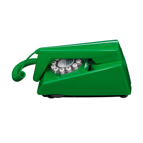 Telefon stacjonarny w stylu retro Trim Emerald Green