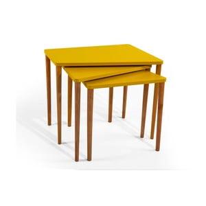 Zestaw 3 stolików Gaston Mustard
