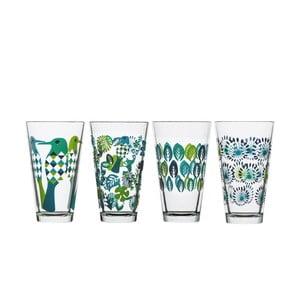Zielony zestaw 4 szklanek Sagaform Fantasy, 300 ml
