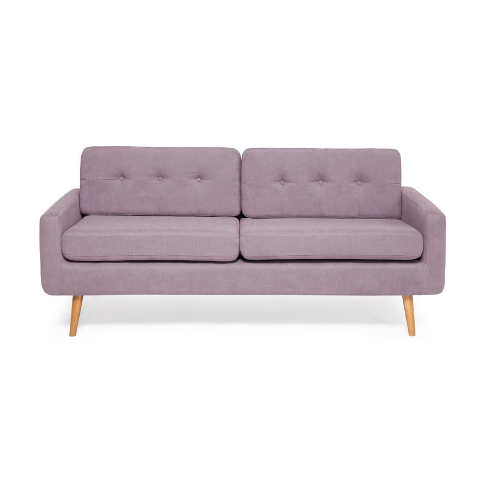 Ciemnofioletowa sofa 3-osobowa Vivonita Ina