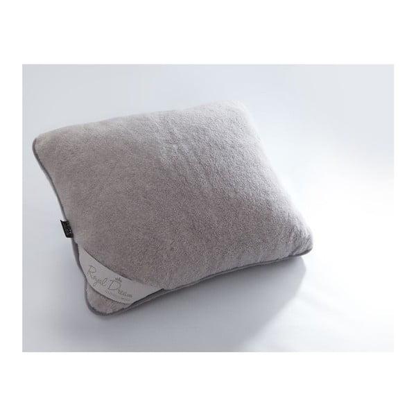 Szara poduszka wełniana Royal Dream Grey, 50x60 cm