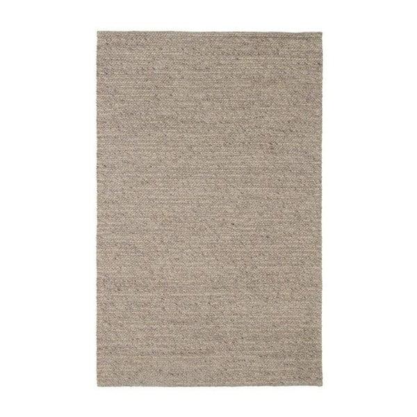 Wełniany dywan Tikos White/Brown, 140x200 cm