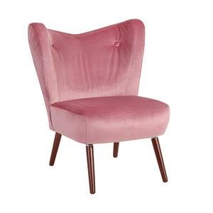 Różowy fotel Max Winzer Sari Velvet