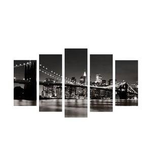 5-częściowy obraz Bridge River, 60x100 cm