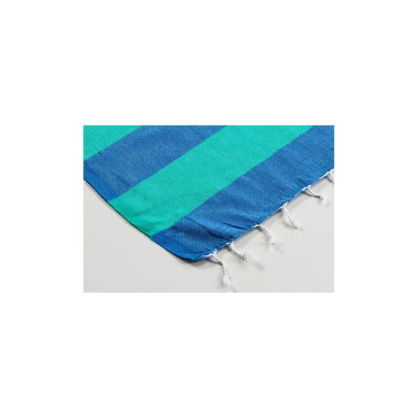 Ręcznik hamam Myra Blue Green, 100x180 cm