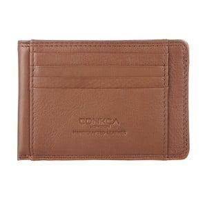 Skórzane etui na wizytówki i karty kredytowe Slim Jim Chestnut
