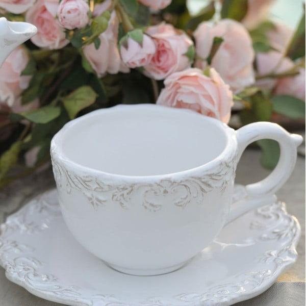 Filiżanka na herbatę z podstawkiem Romantica