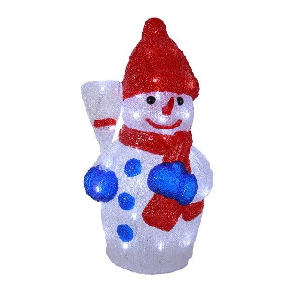 Świecąca dekoracja Crystal Snowman 48