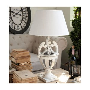 Lampa stołowa Shabby White, 69 cm