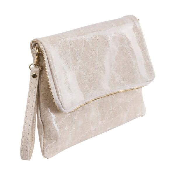 Beżowa torebka skórzana Andrea Cardone Fiore