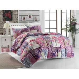 Narzuta na łóżko dwuosobowe Virgem Lilac, 195x215 cm