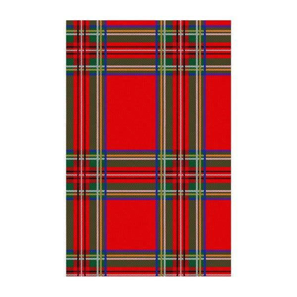 Winylowy dywan Tartan Rojo, 99x120 cm