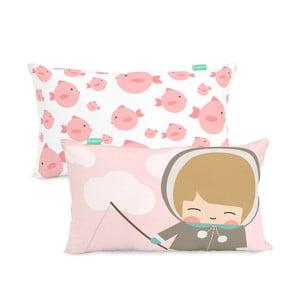 Poszewka na poduszkę z czystej bawełny Happynois Skymo Day, 50x30 cm