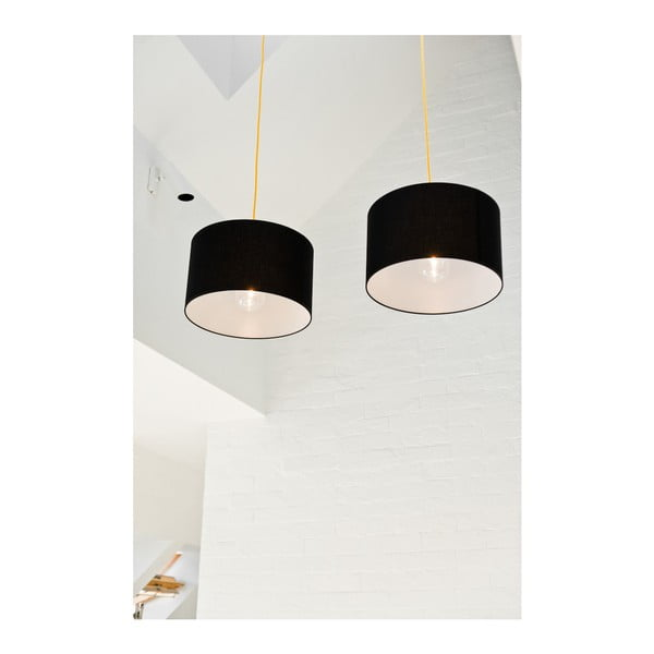 Lampa wisząca Tres 36 cm, czerwona/czarna